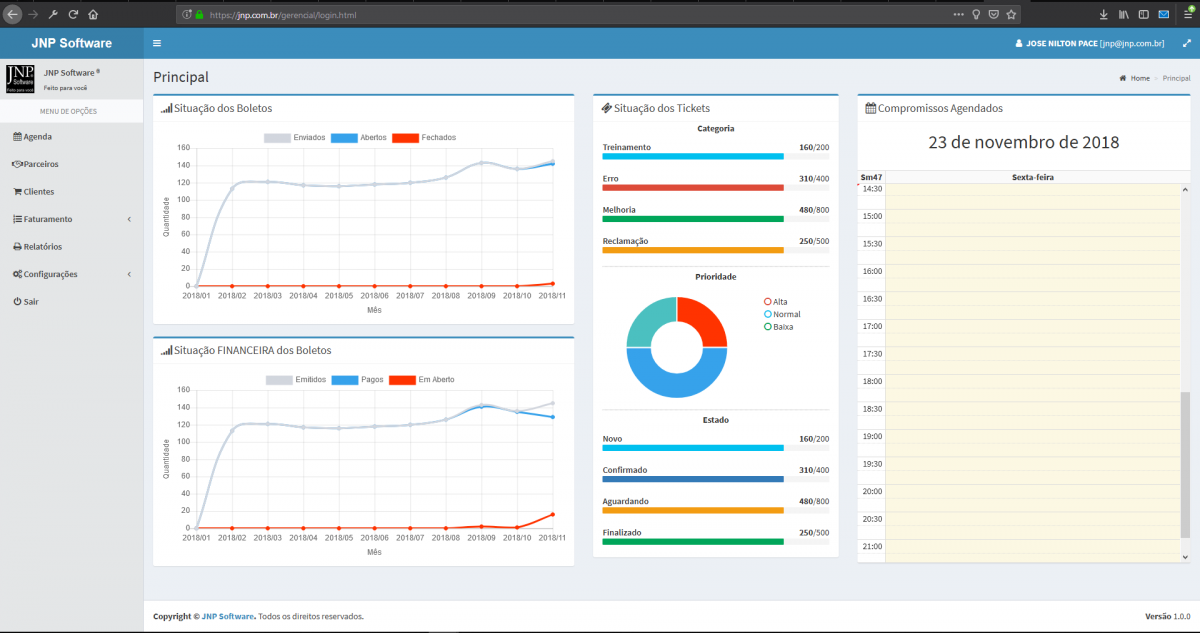 Web dashboard application - Network, Cloud and Web - Delphi-PRAXiS [en]