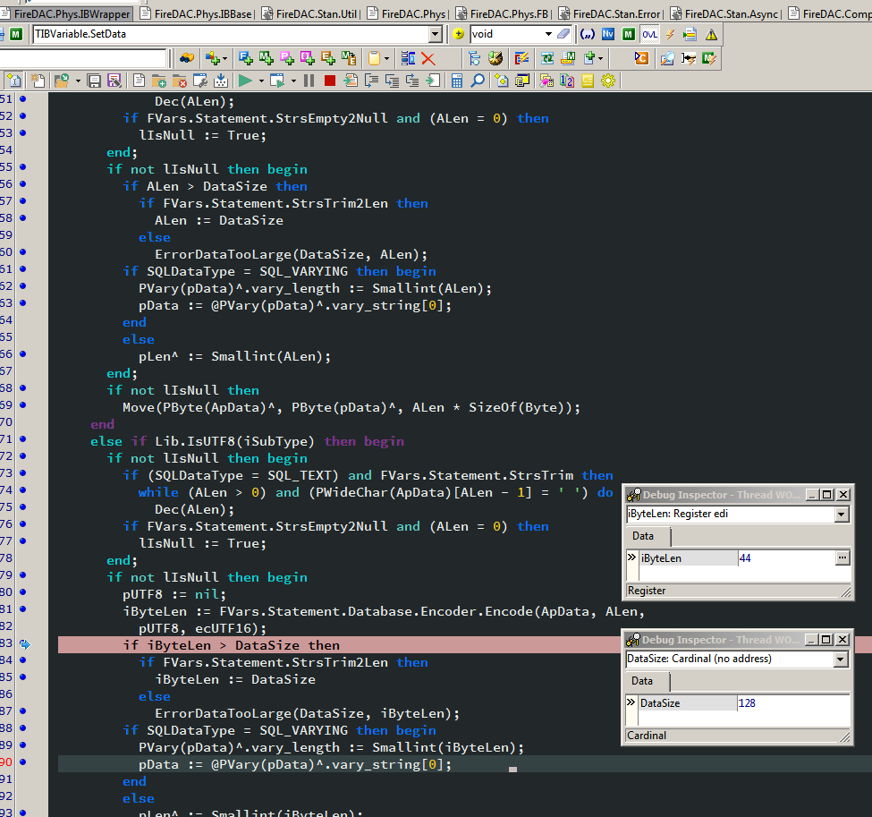 Firedac] Truncation error on Firebird select query - Databases