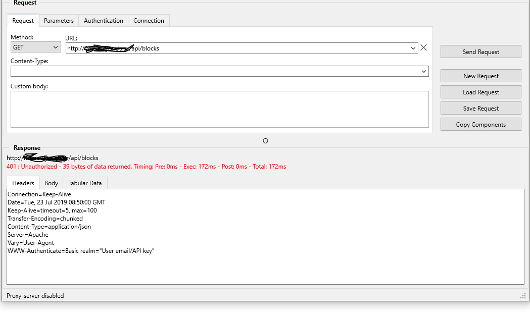 REST BASIC Authentication - Network, Cloud and Web - Delphi